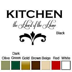 'Kitchen the Heart of the Home' Vinyl Wall Art Decal