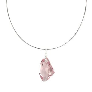 Jewelry by Dawn Pink Crystal Galactic Sterling Silver Omega Necklace