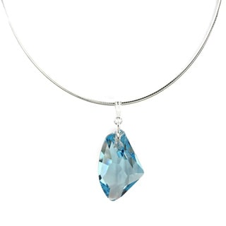 Jewelry by Dawn Sterling Silver Aquamarine Crystal Galactic Omega Necklace