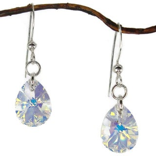 Jewelry by Dawn Crystal Medium Pear Sterling Silver Earrings