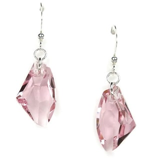 Jewelry by Dawn Pink Crystal Galactic Sterling Silver Earrings