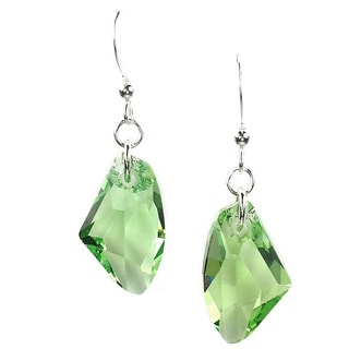 Green Galactic Sterling Silver Earrings