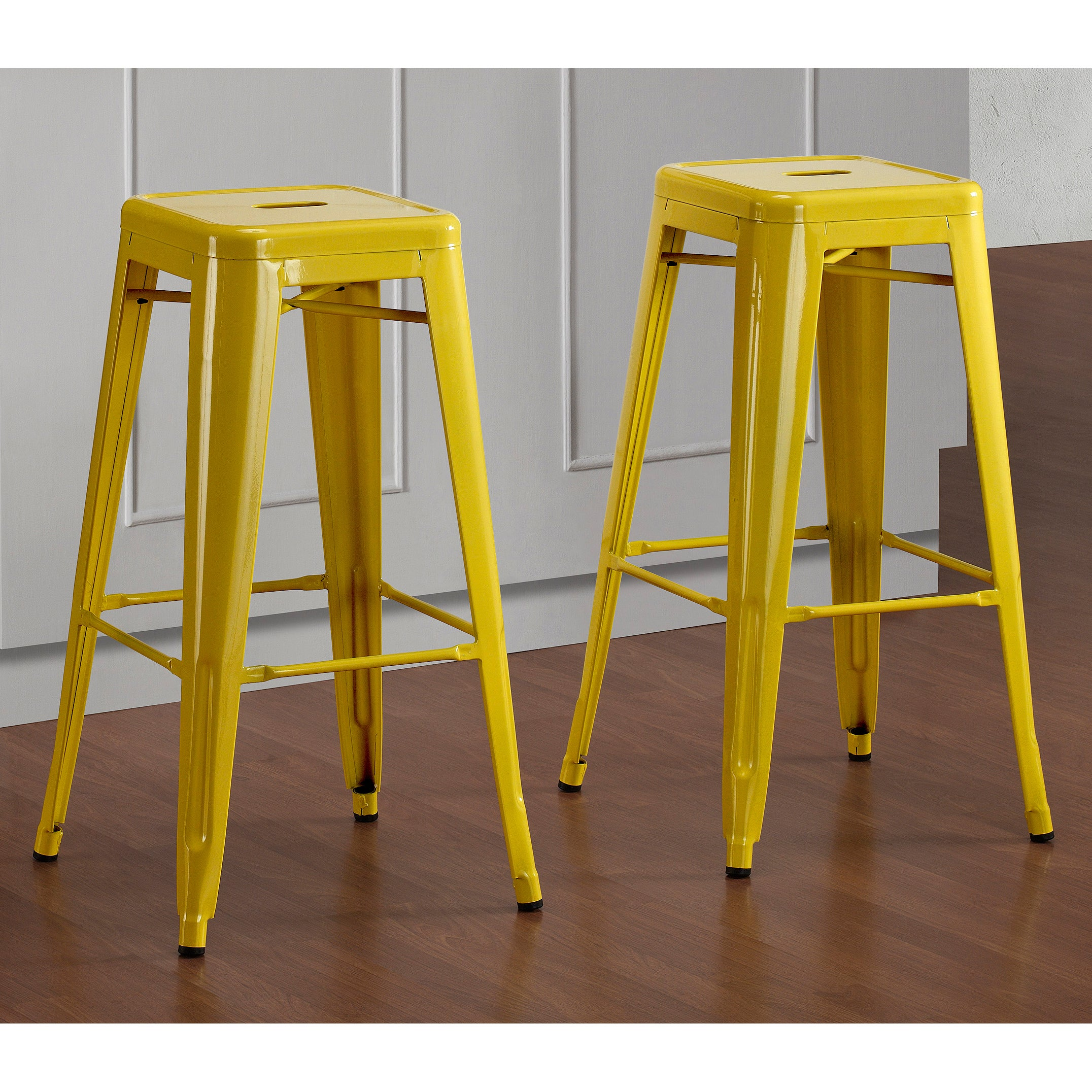 Tabouret 30 Inch Lemon Metal Bar Stools Set Of 2 Overstock Shopping Gre
