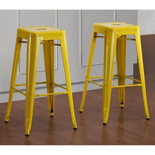 Tabouret 30-inch Lemon Metal Bar Stools (Set of 2)