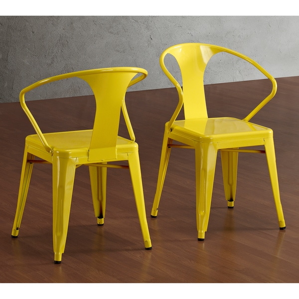 Tabouret Lemon Metal Stacking Chairs (Set of 4)