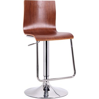 Lynch Walnut Modern Bar Stool (Set of 2)