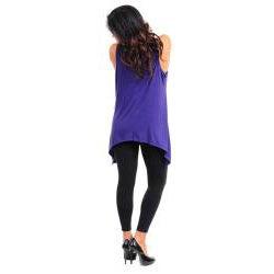 Stanzino Women's Sleeveless Purple Plus Size Tunic with Beaded Neckline