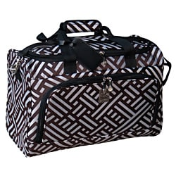 Jenni Chan Signature City Duffel Brown Silver