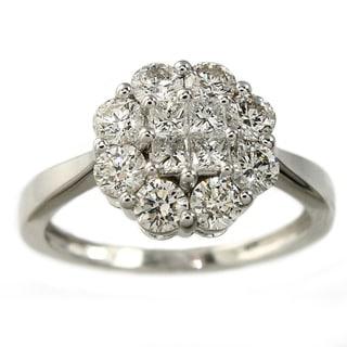 Beverly Hills Charm 14K White Gold 1ct TDW Diamond Ring (H-I, I1)