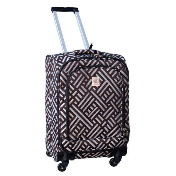 Jenni Chan Signature 360 Quattro 21-inch Brown/Silver Carry On Spinner Upright