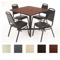 Regency Seating 36'' Square Table and Chair Set