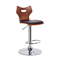 Amery Walnut and Black Modern Bar Stools (Set of 2)