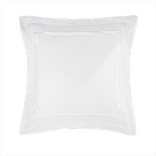 Roxbury Park White Baratto Embroidered Euro Sham