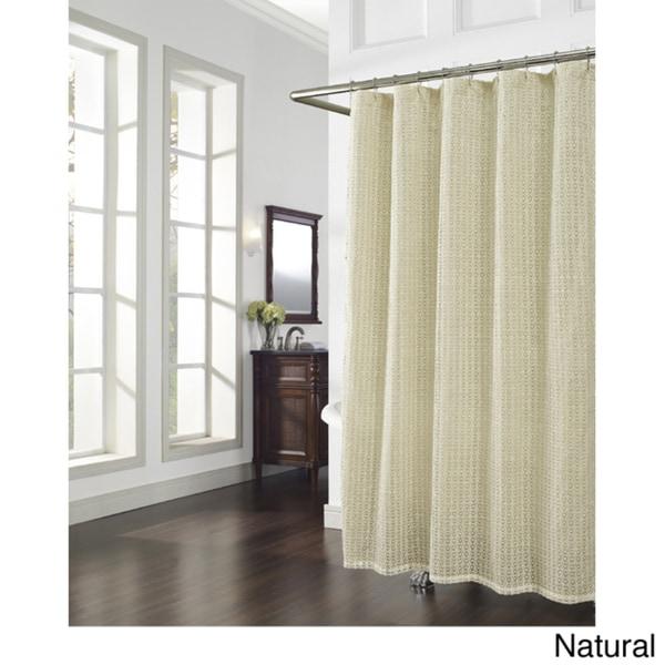 Cane Crochet Shower Curtain