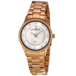 Skagen Women's Rose Gold Stainless Steel MOP Dial Watch