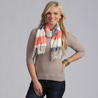 Peach Couture Women's Striped Lightweight Scarf