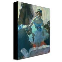 Edgar Degas 'Dancer in her Dressing Room' Canvas Art