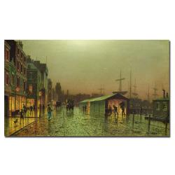 John Grimshaw 'Liverpool Docks' 32-Inch Canvas Art