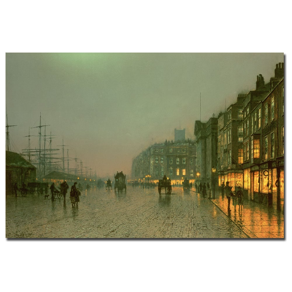 John Grimshaw 'Liverpool Docks 1870' Canvas Art