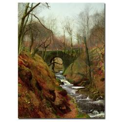 John Grimshaw 'March Morning' Gallery-Wrapped Canvas Art