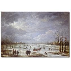 Aert Van Der Neer 'Winter Landscape' Medium Canvas Art