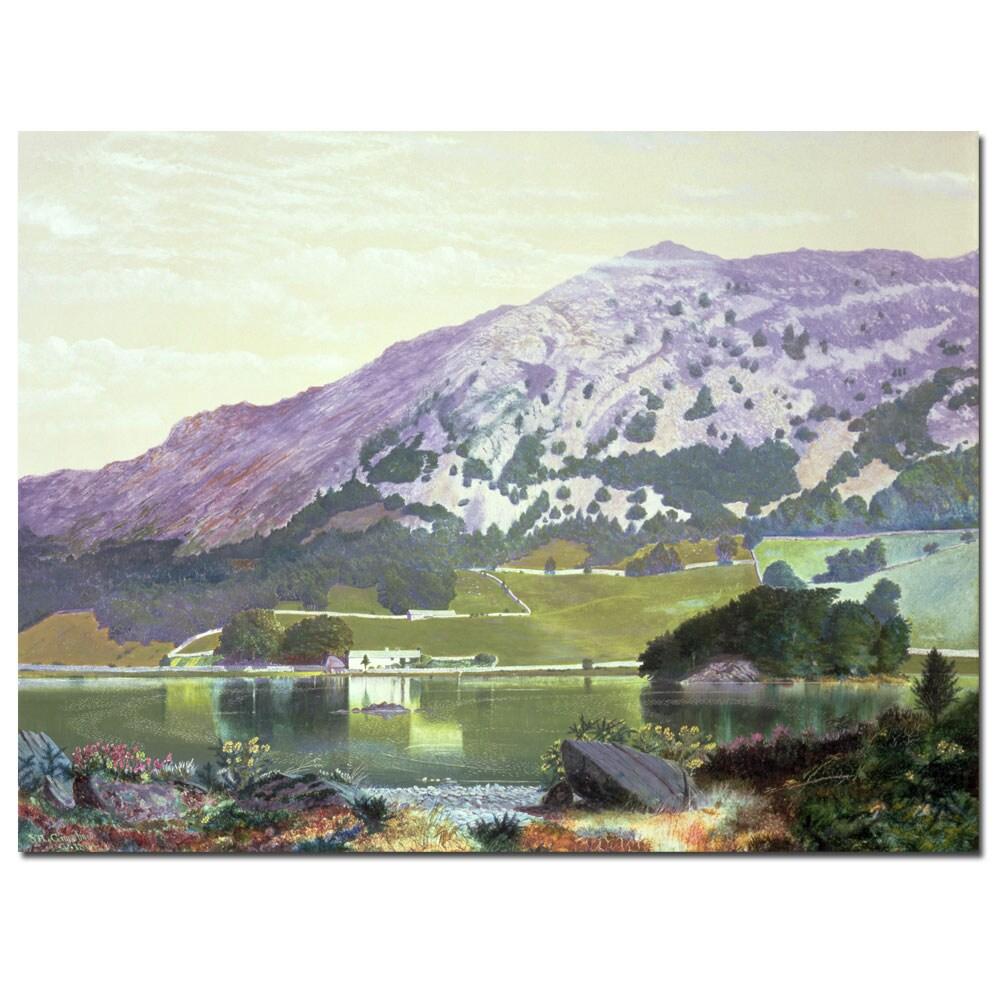 Manuel Barron y Carillo 'Spanish Landscape' Gallery-Wrapped Canvas Art