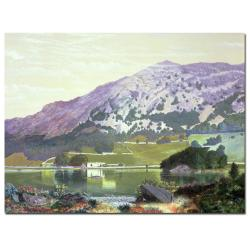 Manuel Barron y Carillo 'Spanish Landscape' Gallery-Wrapped Canvas Art