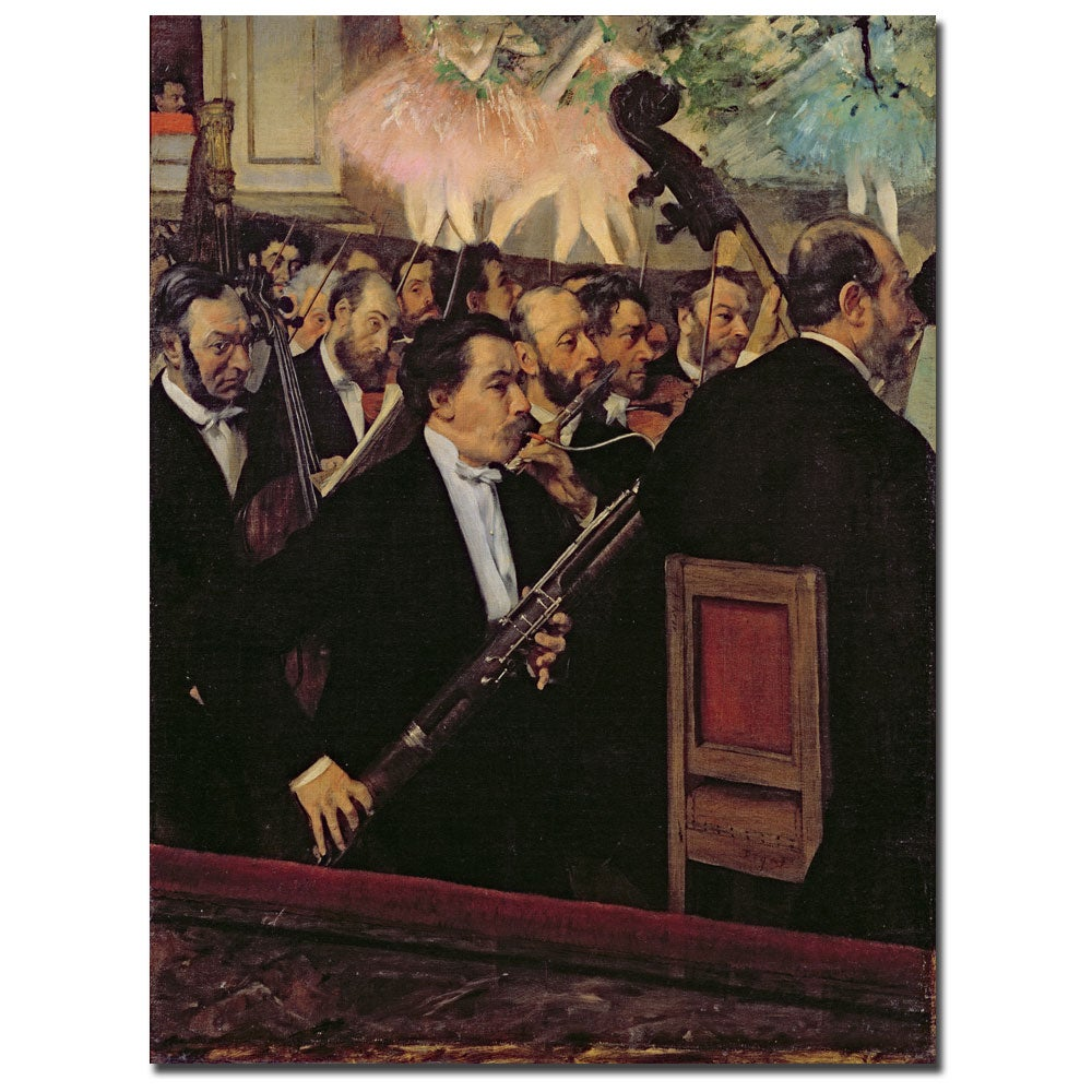 Edgar Degas 'The Opera Orchestra 1870' Canvas Art