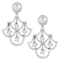Victoria Kay 18k White Gold 2 1/4ct TDW White Diamond Earrings (F-G, SI1-SI2)