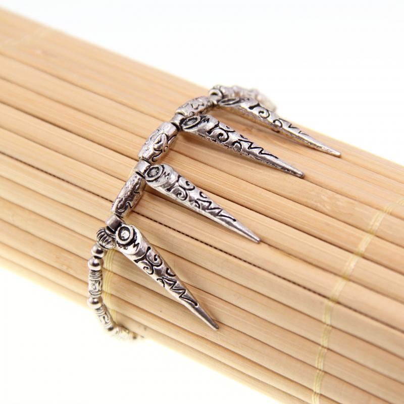 Tibetan Silver Teeth Design Bracelet (China)