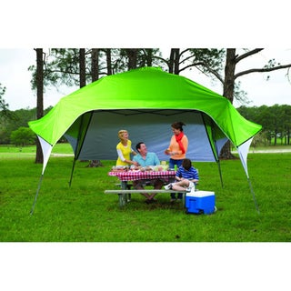 Fast Set Instant Pop Up Wing Canopy with Adjustable Rear Wall (12' x 12')