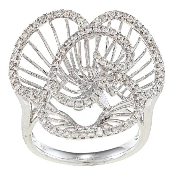 Victoria Kay 14k White Gold 7/8ct TDW Diamond Flower Ring (H-I, SI1-SI2)