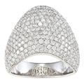 14k White Gold 2 3/4ct TDW Diamond Pave Band (F-G, SI1)