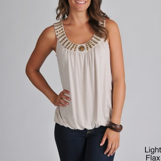 Grace Elements Women's Studded Blouson Tank