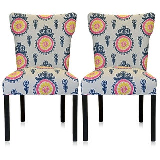 Calandra Crown Wingback Chairs (Set of 2)