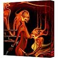 Michael L Stewart 'Parasite' Gallery Wrapped Canvas Art (18 x 18)