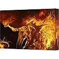 Michael L Stewart 'Pyro' Gallery Wrapped Canvas Art (18 x 24)