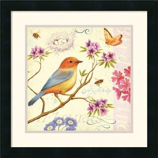 Daphne Brissonnet 'Birds and Bees II' Framed Art Print