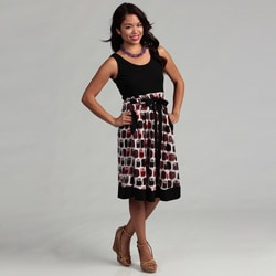 Women's Black Owl Dress