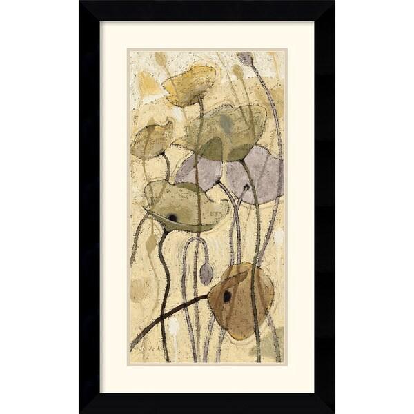Shirley Novak 'Fluidity I' 20 x 32-inch Framed Art Print