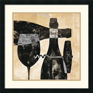 Daphne Brissonnet 'Wine Selection I' Framed Art Print
