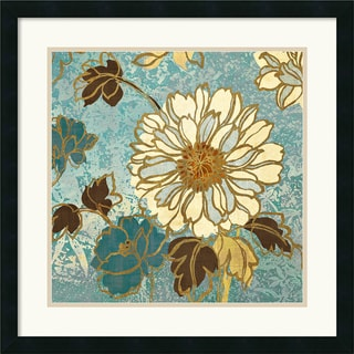 Wild Apple 'Sophias Flowers II Blue' Framed Art Print