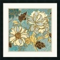 Wild Apple 'Sophias Flowers I Blue' Framed Art Print