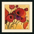Shirley Novak 'Poppies Wildly II' Framed Art Print