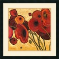 Shirley Novak 'Poppies Wildly I' Framed Art Print