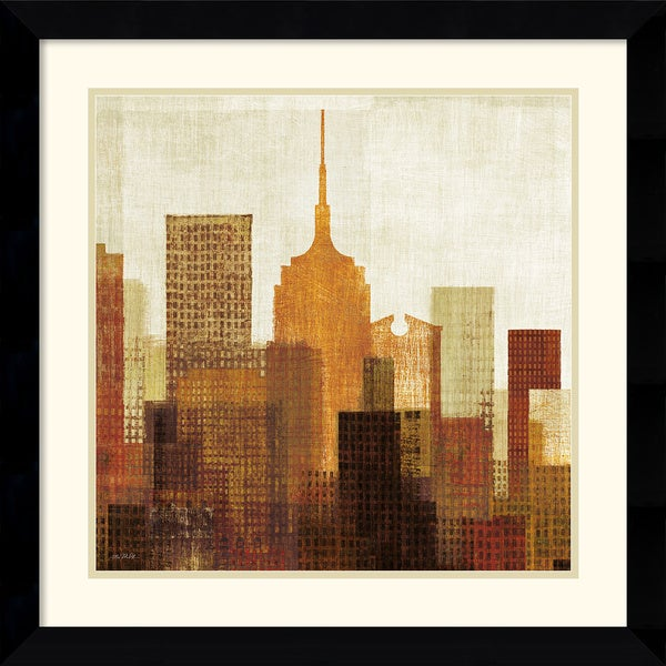 Mo Mullan 'Summer in the City II' 28 x 28-inch Framed Art Print