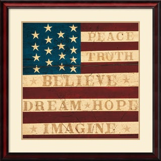 Warren Kimble 'Inspired Colonial Flag' Framed Art Print