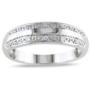 Miadora 10k White Gold Diamond Accent Band (G-H, I1-I2)
