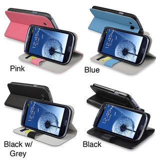 INSTEN Leather Phone Case Cover with Credit Card Wallet for Samsung Galaxy S III i9300