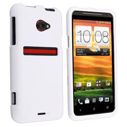 White Snap-on Rubber Coated Case for HTC EVO 4G LTE